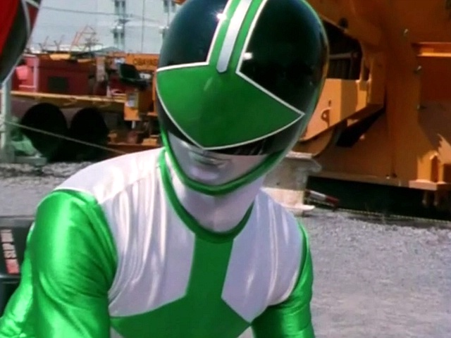 Personaje: Trip (Green Ranger), Serie: POWER RANGERS FUERZA DEL TIEMPO (POWER RANGERS TIME FORCE)