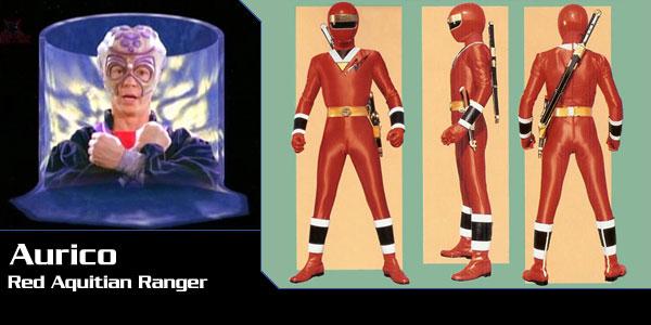 Personaje: Aurico (Red Aquitar Ranger), Serie:ALIEN POWER RANGERS (ALIEN RANGERS OF AQUITAR)